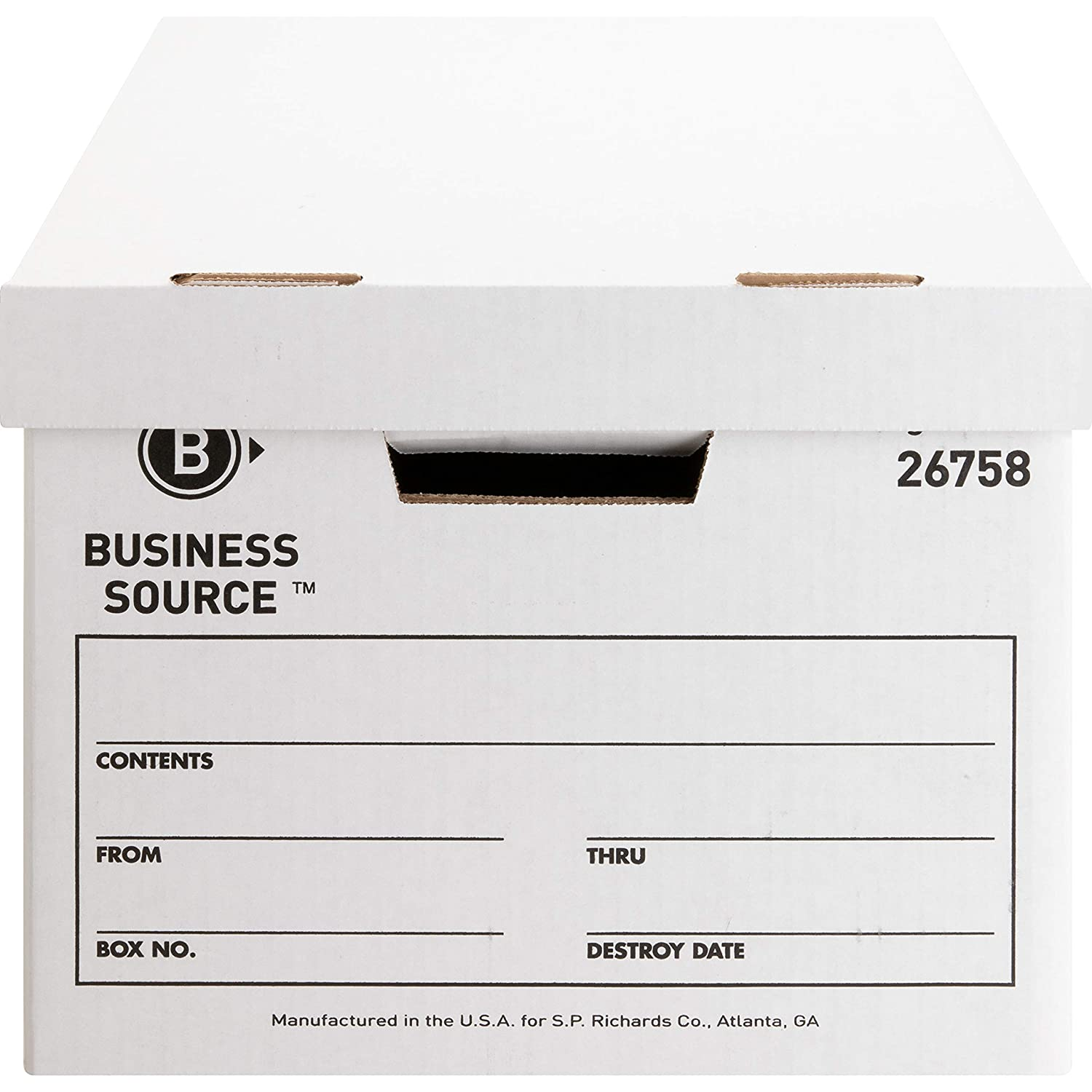 Uno 26758 BSN26758 Business Source Lift-Off Lid Medium Duty Storage Box SP Richards