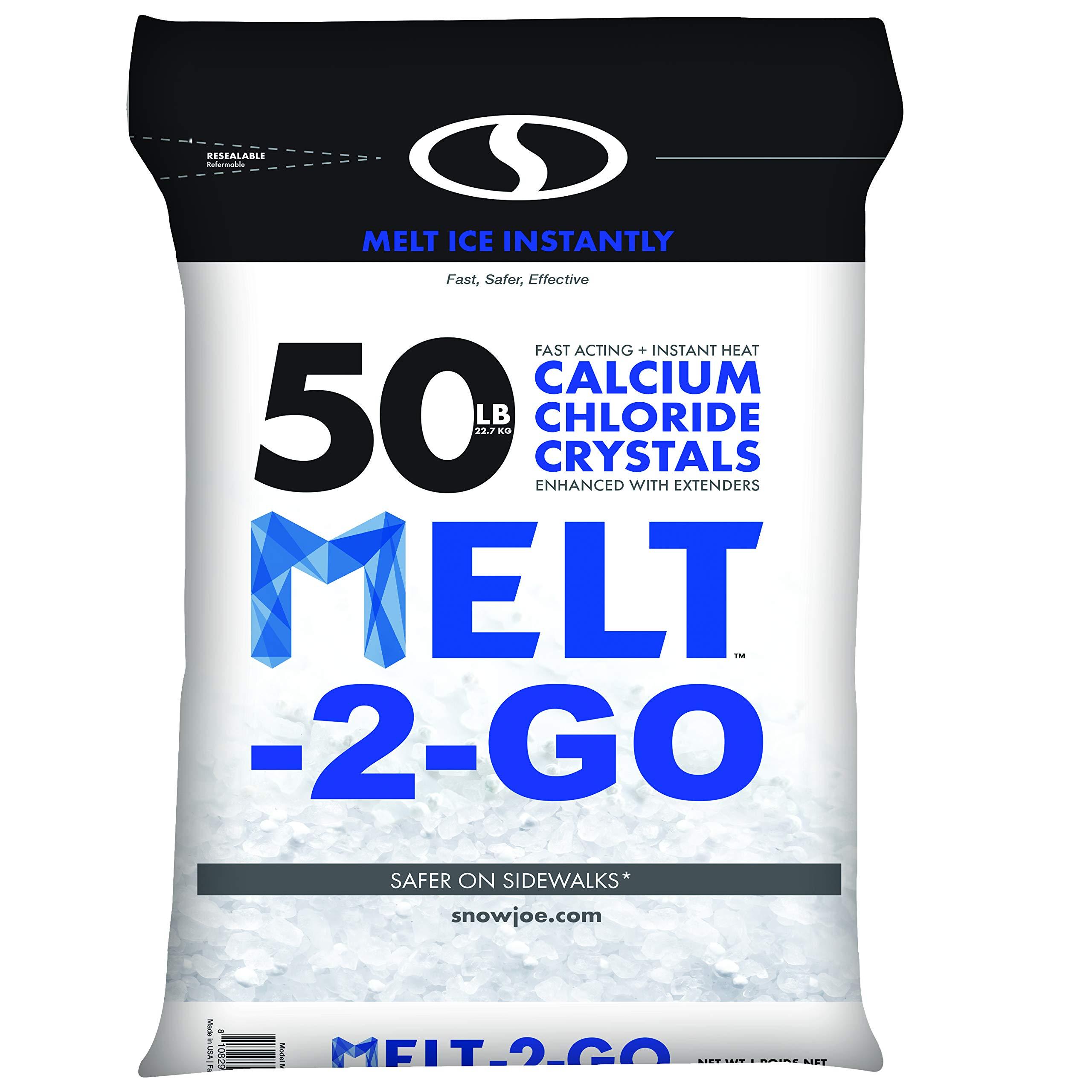 Snow Joe AZ-50-CC Melt-2-Go Resealable Bag Premium Calcium Chloride Crystal Ice Melter, 50 lb by Snow Joe