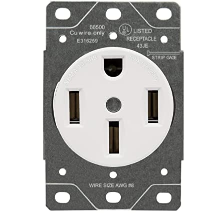 ENERLITES 50 Amp Range Receptacle Outlet for RV and Electric Vehicles, on