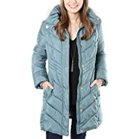 Anne Klein Ladies Button Front Faux Down Coat