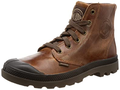 Palladium Men's Pampa Hi Leather Boot,Sunrise/Chocolate,8 ...