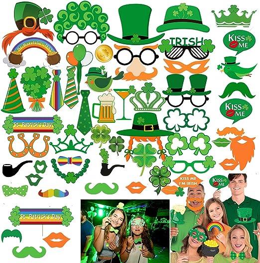 10 x St Patricks Photo Booth Face Photo Props Party Activity Ideas Irish Fun