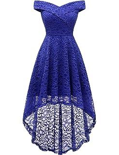 784d31d70668 Homrain Women's Off Shoulder Hi-Lo Floral Lace Dress Vintage Elegant  Cocktail Party Wedding Dresses