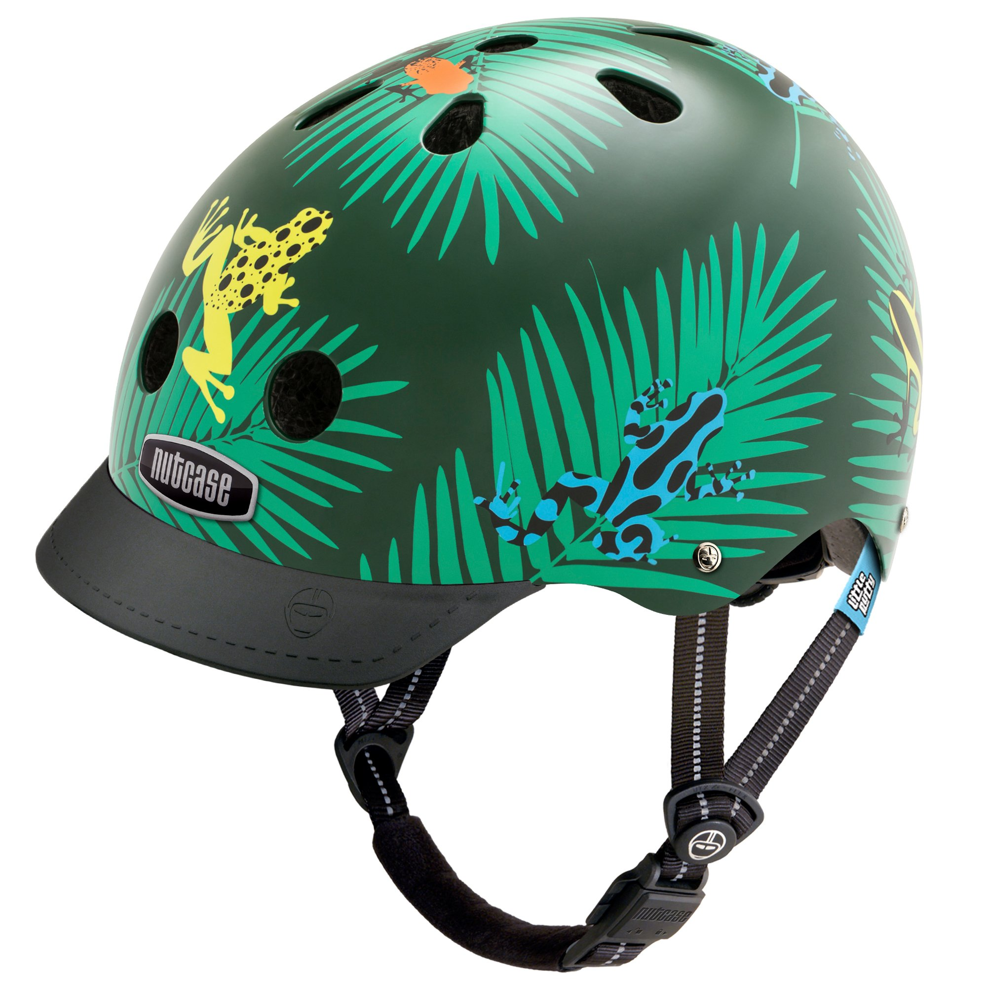 Nutcase -  Little Nutty Bike Helmet for Kids, Dart Frogs