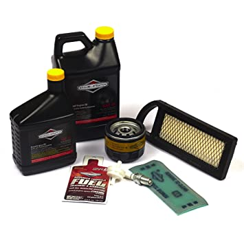 81oiaFBQl1L._SY355_ amazon com briggs & stratton 5127b tune up kit lawn mower tune  at gsmx.co