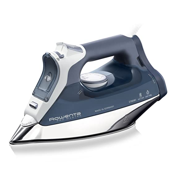 Rowenta ProMaster DW8112 - Plancha de vapor 2700 W, golpe de vapor 200 gr/min, vapor continuo de 40g/min, suela Microsteam Laser 400, autolimpieza y antical integrado