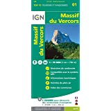 IGN 75 000 Touristische Wanderkarte 01 Massif du Vercors