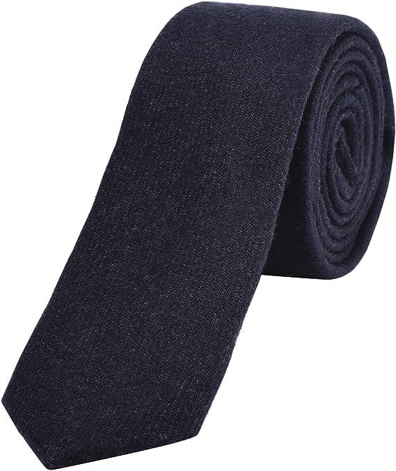 DonDon Corbata estrecha de algodón para hombres de 6 cm - azul ...