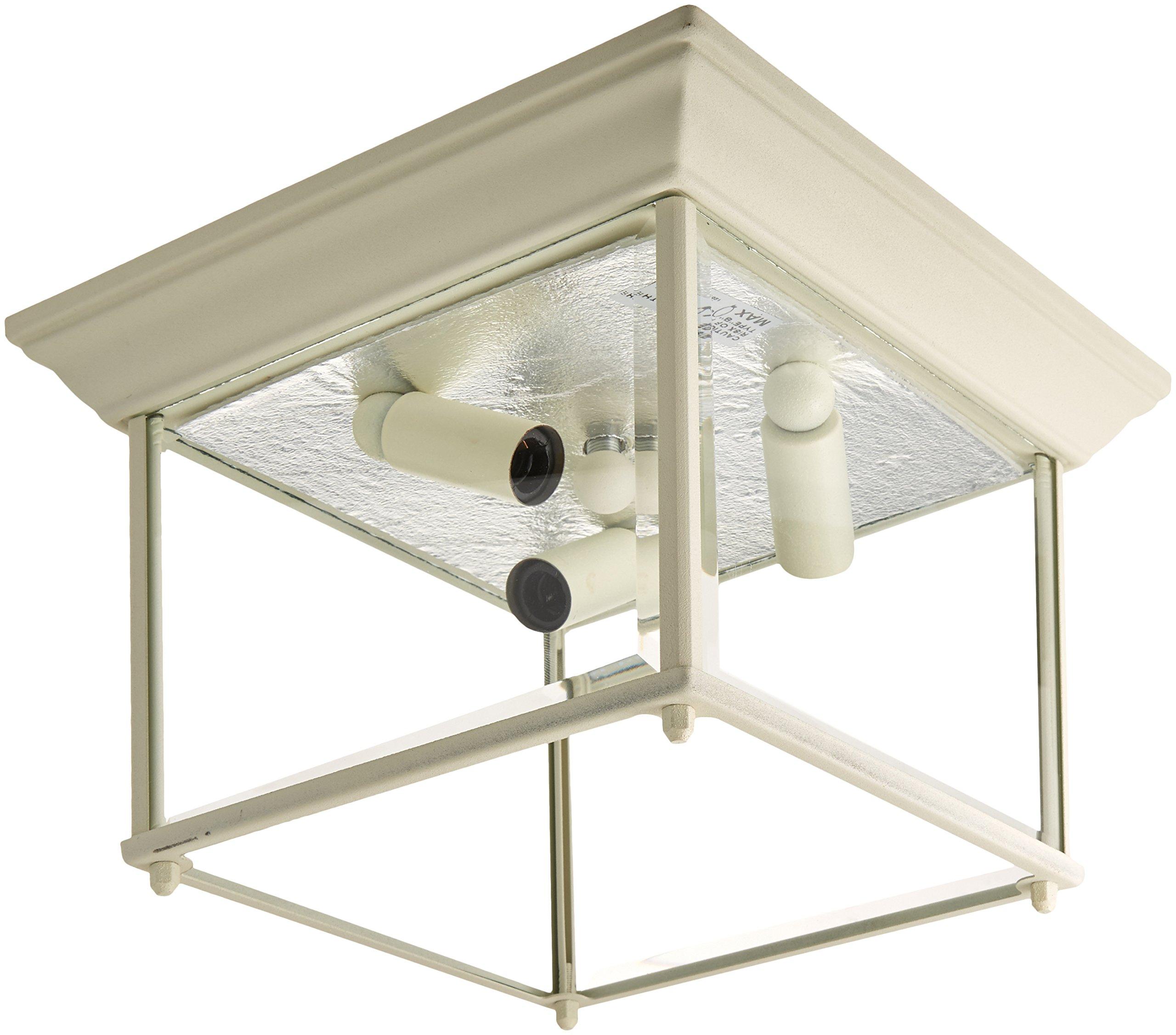 Trans Globe Lighting 4905 WH Outdoor Ansel 6.5'' Flushmount Lantern, White
