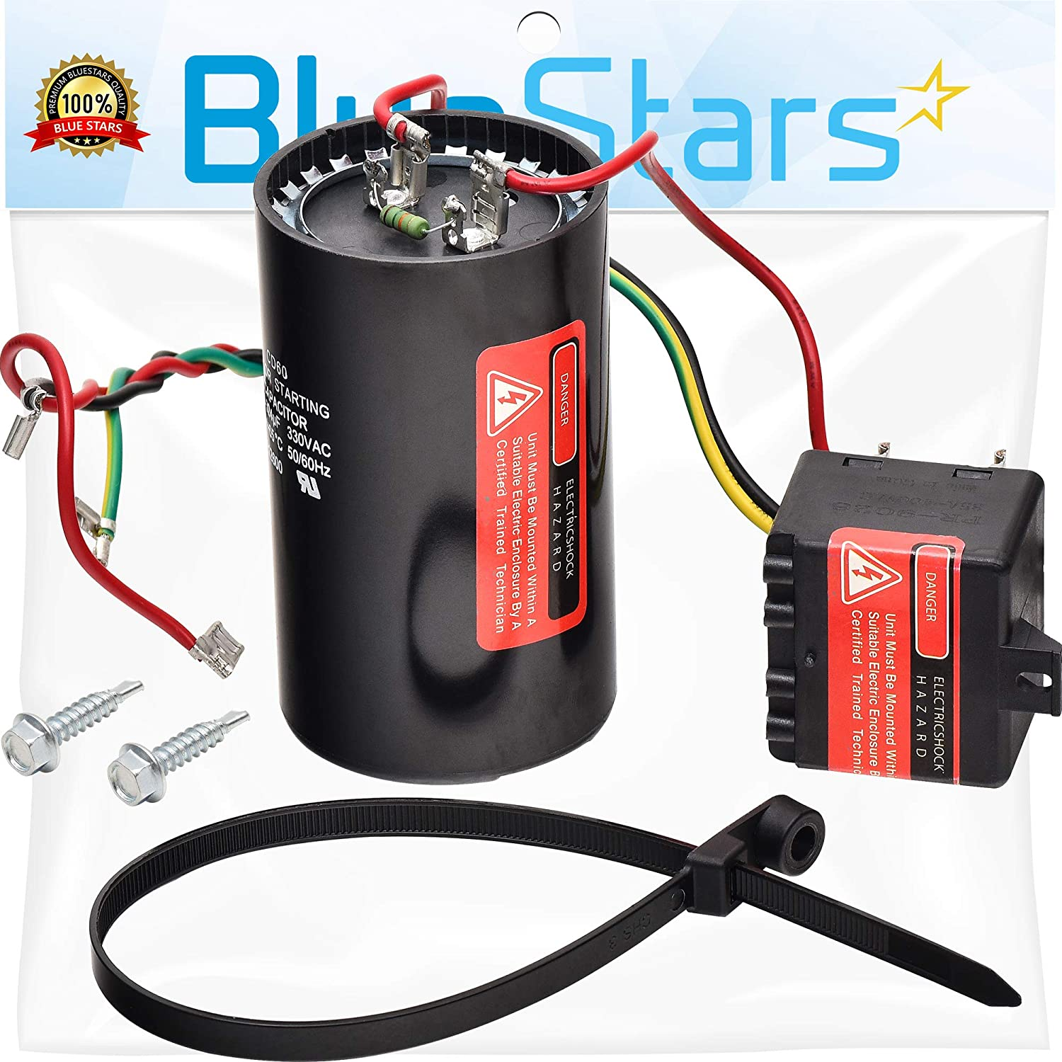 5-2-1 CSR-U3 Compressor Saver Hard Start Capacitor by Blue Stars - Compatible for 4 to 5 Ton Units