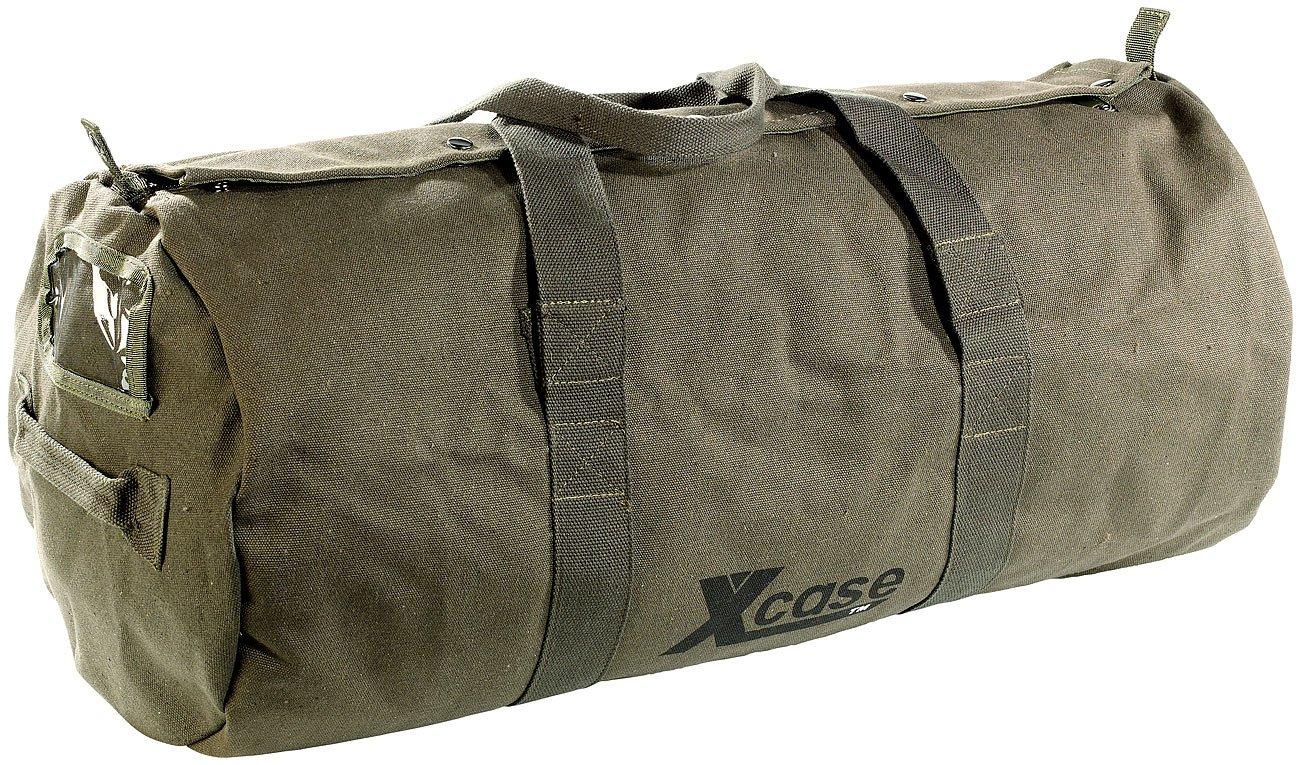 Xcase Canvas Sporttasche: Canvas-Sport- und Reisetasche mit Tragegriff, 70 Liter (Schultertaschen) PE-7595
