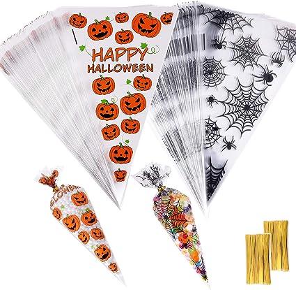 Happy Halloween Treat Bags 6in x 10in 25 Pieces
