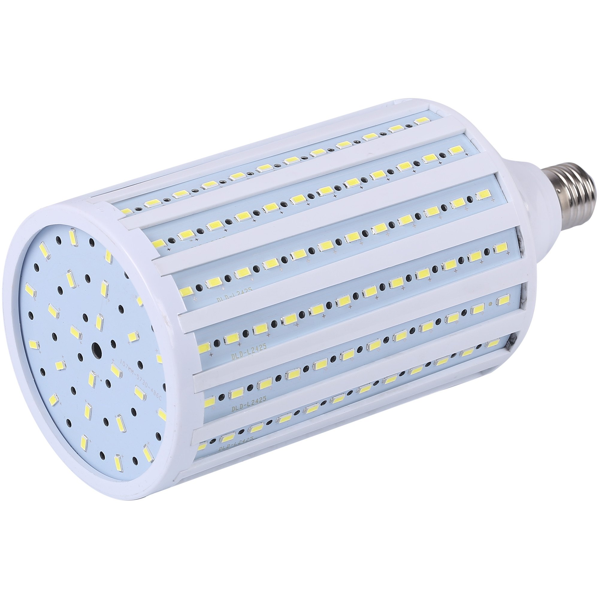 JacobsParts Huge Super Bright LED Corn Light Bulb 50W / 300W Equivalent 5000lm 216-Chip E26 Cool Daylight White 6000K