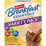 Carnation Breakfast Essentials Powder Drink Mix Variety Pack, Complete Nutritional Drink, 10 Count Box of 1.26 Ounce…