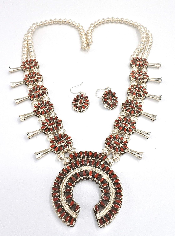 Dangle Earrings Navajo Earrings Navajo Sterling Silver Paua Shell Squash Blossom Dangle Earrings Southwestern Earrings Abalone Earrings