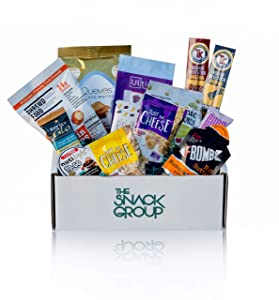 The Snack Group - Premium Keto Snack Box, Keto Friendly, Low Carb Gluten Free Snack Box, Diet Keto Gift Box, Savory & Sweet Variety, (13 Count) Ketogenic Snacks, No Added Sugars, High Protein