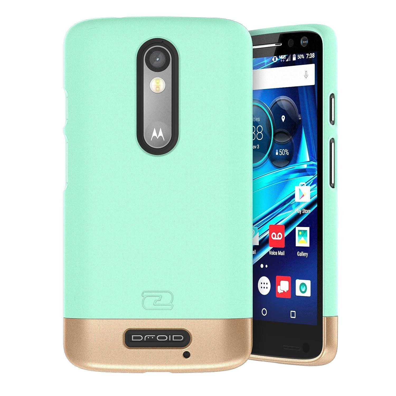 Motorola Droid Turbo 2 Case, Encased (SlimSHIELD Edition) Ultra Slim Cover (Full Coverage) Hybrid Slider Shell (Mint Green)