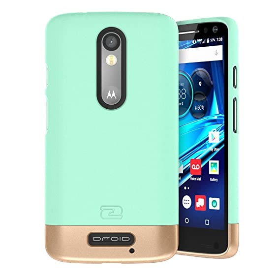 online store eec24 060de Motorola Droid Turbo 2 Case, Encased (SlimSHIELD Edition) Ultra Slim Cover  (Full Coverage) Hybrid Slider Shell (Mint Green)