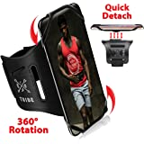 TRIBE Running Phone Holder Sports Armband. iPhone Cellphone Arm Band for Women & Men. 360° Rotation & Detachable. Runners, Jo