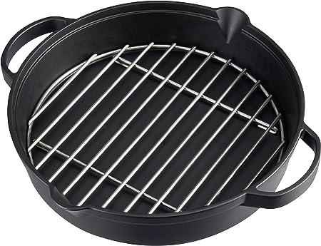 Barbecue Promo Grill acier grille Ø 34 cm: : Gros