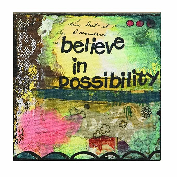 Amazon.com: Kelly Rae Roberts Believe in Possibility Wall Art ...