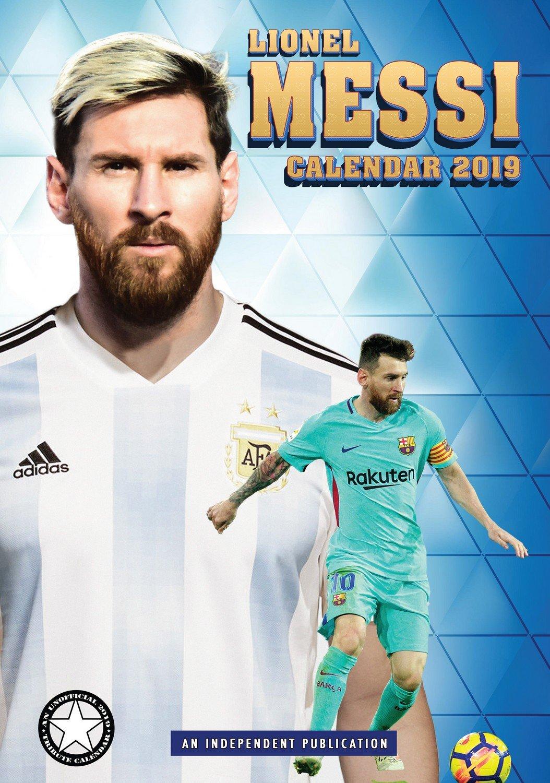 Lionel Messi Calendar Calendars 2018 2019 Wall Mls E Money Soccer Poster 12 Month By Dream Megacalendars