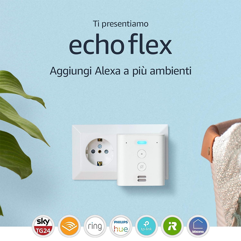 Ti presentiamo Echo Flex - Controlla i dispositivi per Casa Intelligente con comandi vocali grazie ad Alexa: Amazon.it
