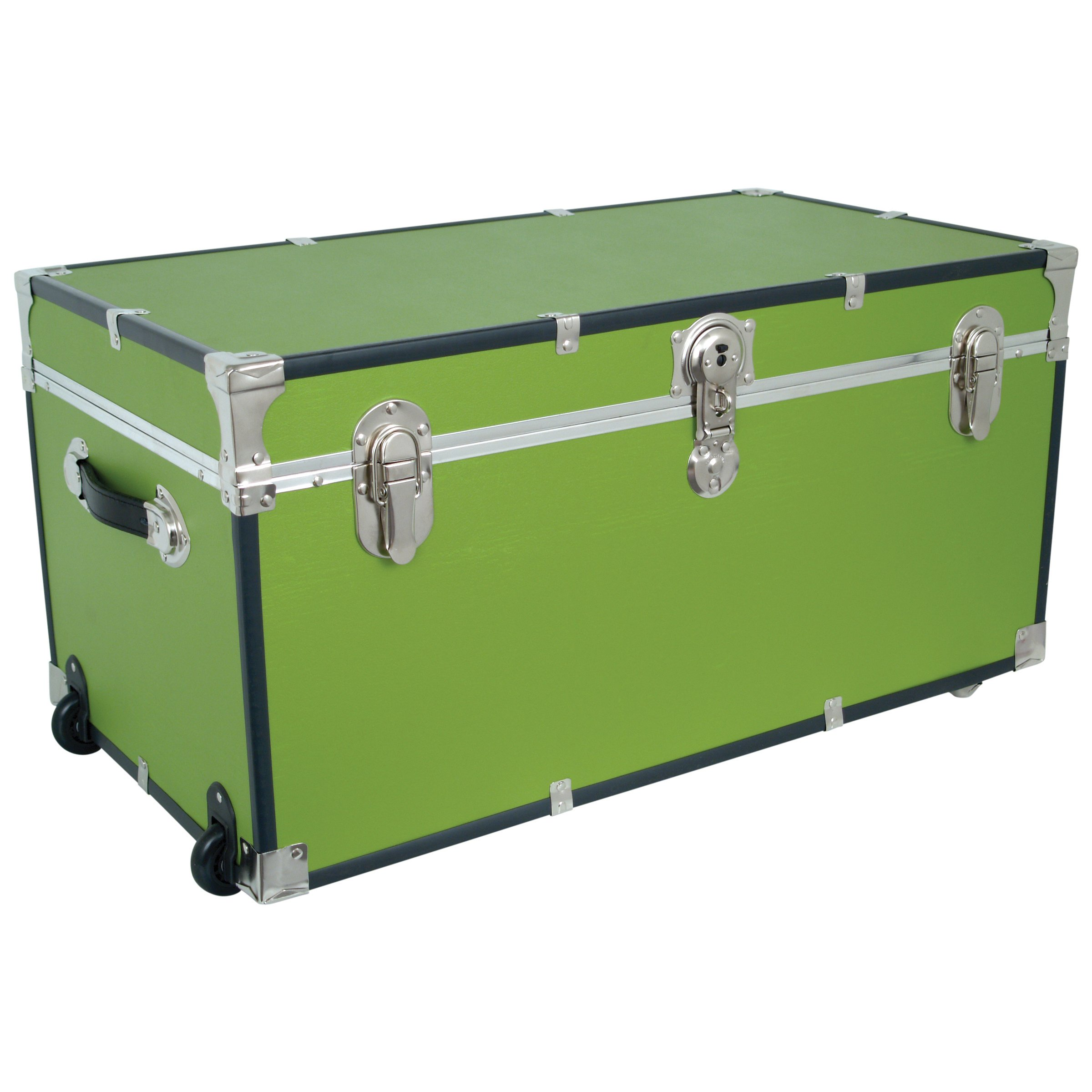 Seward Trunks Oversized Footlocker Trunk with Paper Lining and Wheels, Lime Green, 31-Inch (SWD5135-91)