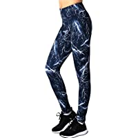 Neonysweets Womens Printed Yoga Pants Active Workout Leggings Stretch Tights