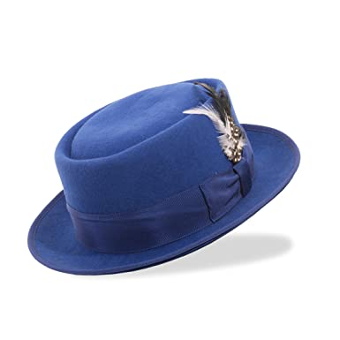 Ferrecci Premium Black Wool PORK PIE HAT -Walter White Heisenberg ... accfbe8f7613