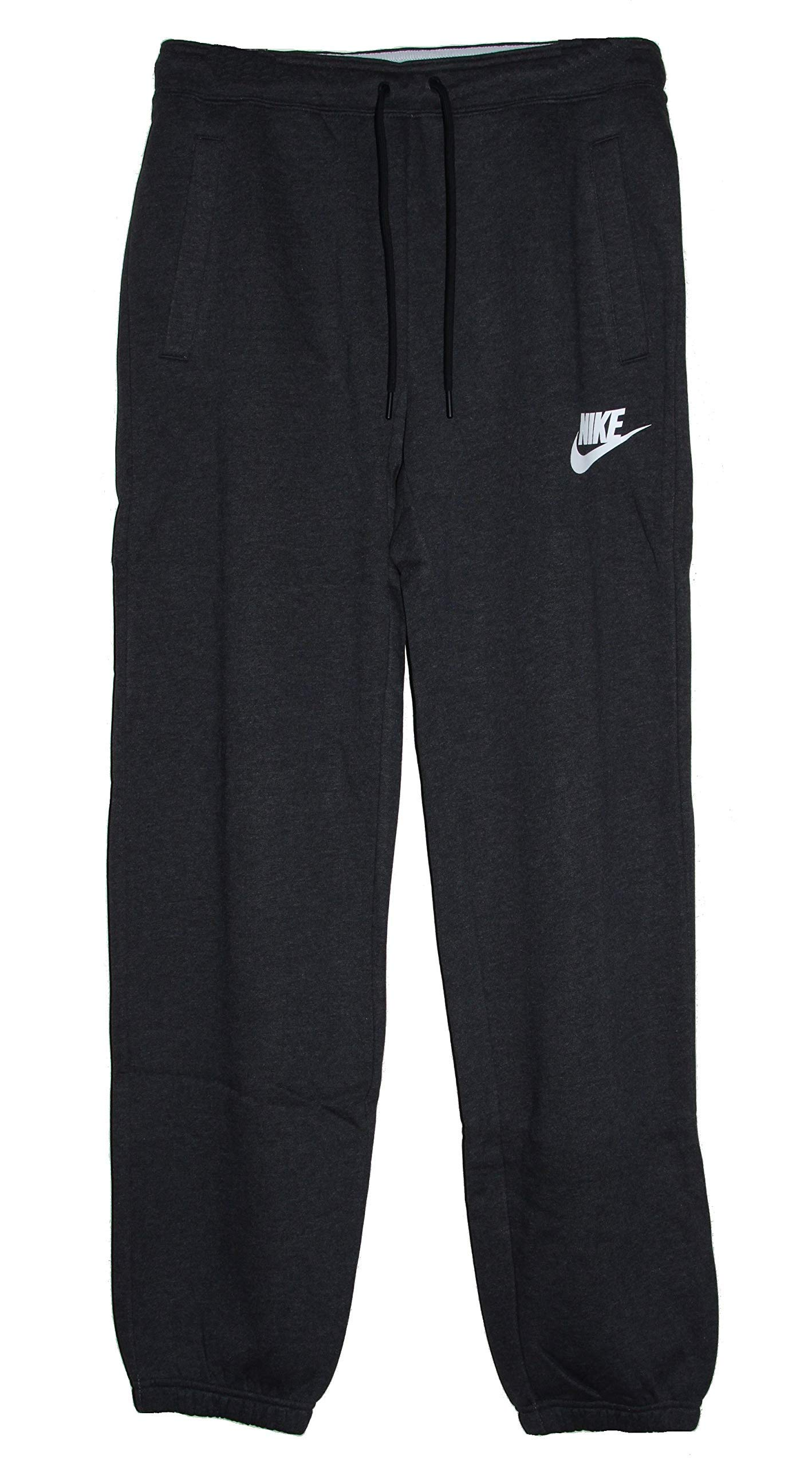 Nike Sportswear Rally Loose Women's Fleece Pants (Black Heather/White, Small)