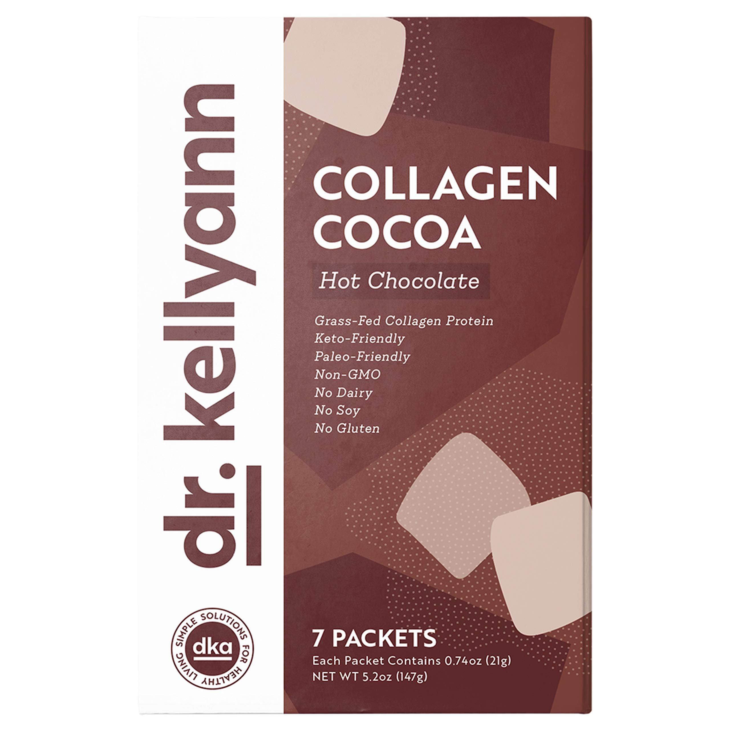 Keto Cocoa Hot Chocolate Packets to Go by Bone Broth Expert Dr. Kellyann - 100% Grass-Fed Collagen, Coconut Milk & Cocoa Powder - Perfect for Keto, Paleo & Weight Loss Diets - 0g Sugar (7 Servings) by Dr. Kellyann