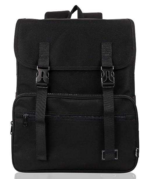 Amazon.com  SmileDay Vintage Flap Bookbag College Backpack   Fits ... e396b46e8e