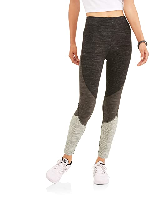 Athletic Works Women's Core Active Ombre Performance Leggings (L, Charcoal  Heather ...