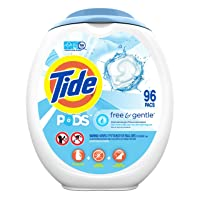 Tide PODS Free and Gentle Laundry Detergent, 96 Count, Unscented and Hypoallergenic...