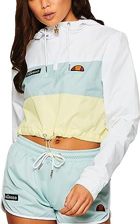 28677d35 Ellesse Minoa Crop W sweat à capuche optic white: Amazon.fr ...
