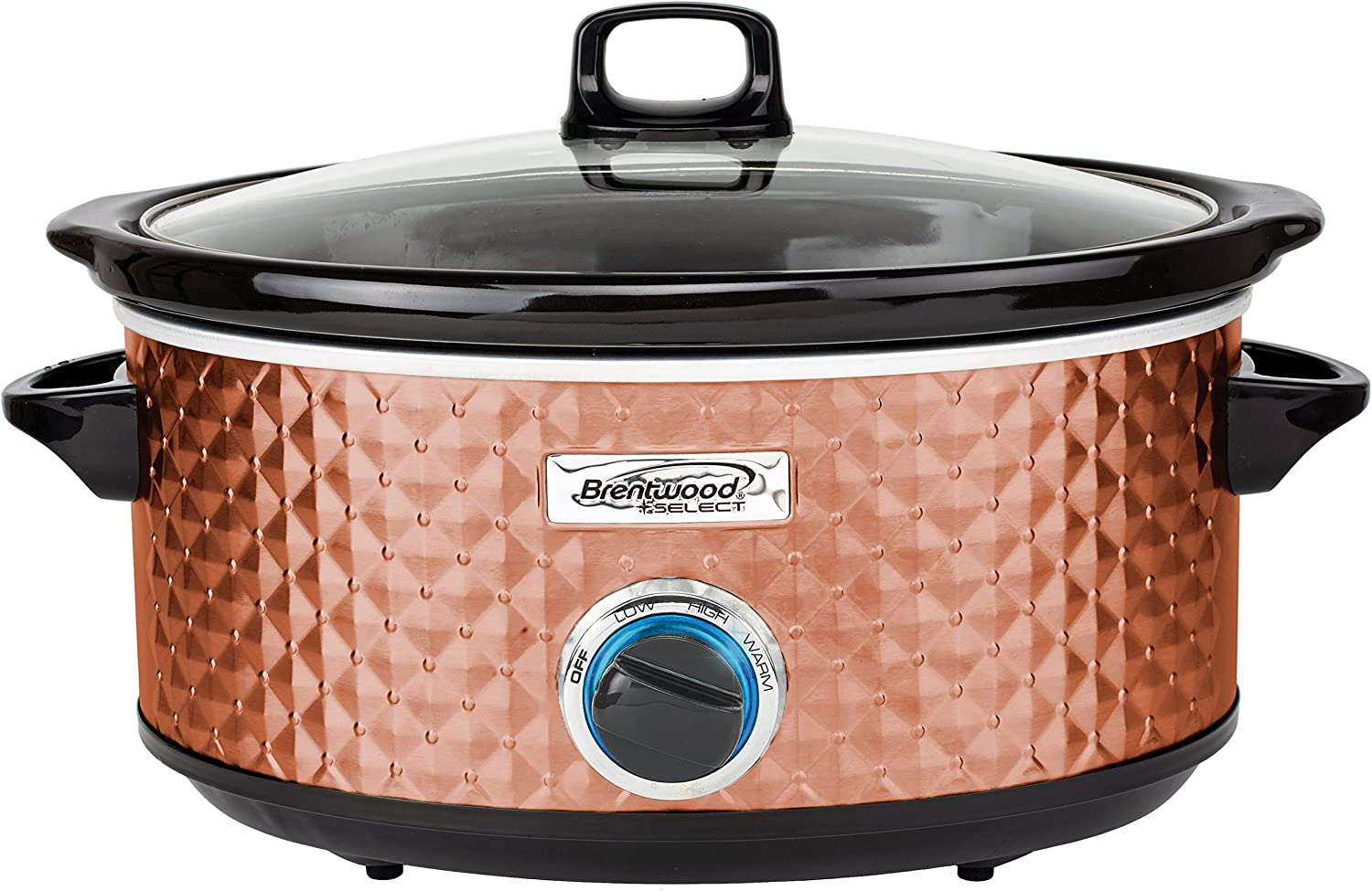 Brentwood Select SC-157C Slow Cooker, 7 Quart, Copper