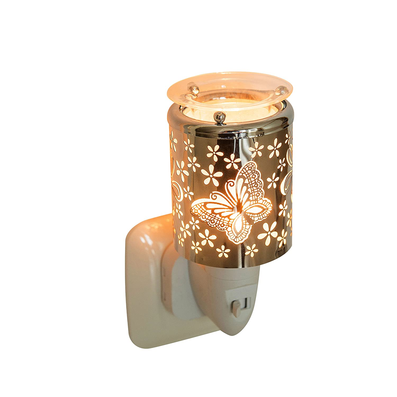 Pajoma Butterfly 44529 Electric Night Light Aroma Lamp Plastic/Metal, Height 10.5 cm