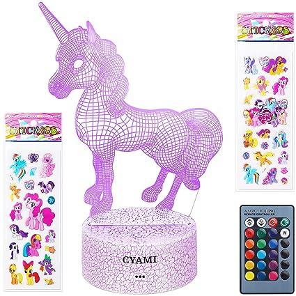 Amazon.com: Unicorn Toys, luz nocturna de unicornio 3D para ...