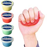 Crown Therapy Putty – Made in USA - Full Set of Hand Exercise Putty (4 Pack, 3-oz Each) Hand Exercise Rehabilitation…