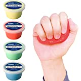 Crown Therapy Putty – Made in USA - Full Set of Hand Exercise Putty (4 Pack, 3-oz Each) Hand Exercise Rehabilitation, Stress