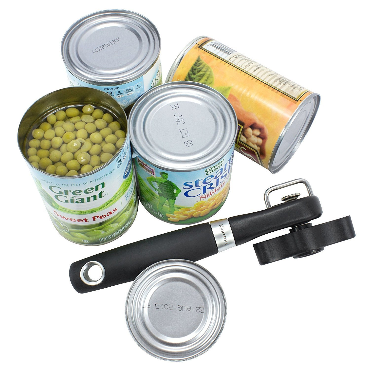 Smooth Edge Can Opener - Can Opener Manual-Safety Feature Prevents Sharp Edges and Cuts - Ergonomic Soft Grips Handle - Lifetime Refund Or Replacement Guarantee - Food Grade Stainless Steel by housewearall (Image #3)
