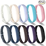 Greeninsync Fitbit Flex 2 Bands, Flex 2 Sport Accessories Bracelet Band Strap Soft Silicone W/ Fastener Clasp for Fitbit Flex 2 Fitness Smart Watch, Adjustable Repalcement Wrist Band for Small Large