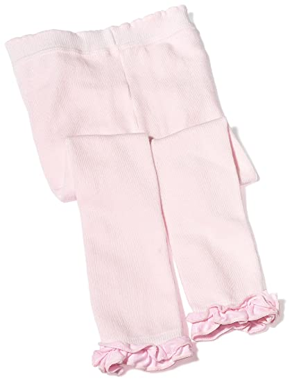 dd378f11261eb Jefferies Socks Baby Girls' Country Kids Ruffle Rhumba Capri Tights, Pink,  12-