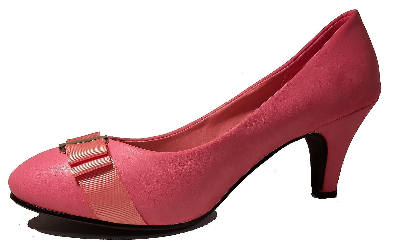 3-W-Hohenlimburg Elegante Stiletto Pumps High Heels Trachtenschuhe mit Schnalle Schleife Oder Schmuck Rot Pink...