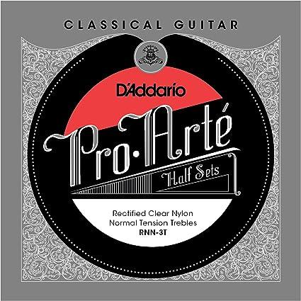 D/'Addario Pro-Arte Rectified Clear Nylon Classical Guitar Half Set Hard Tension