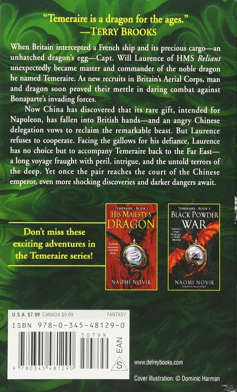 Throne Of Jade (temeraire, Book 2): Naomi Novik: 9780345481290: Amazon:  Books