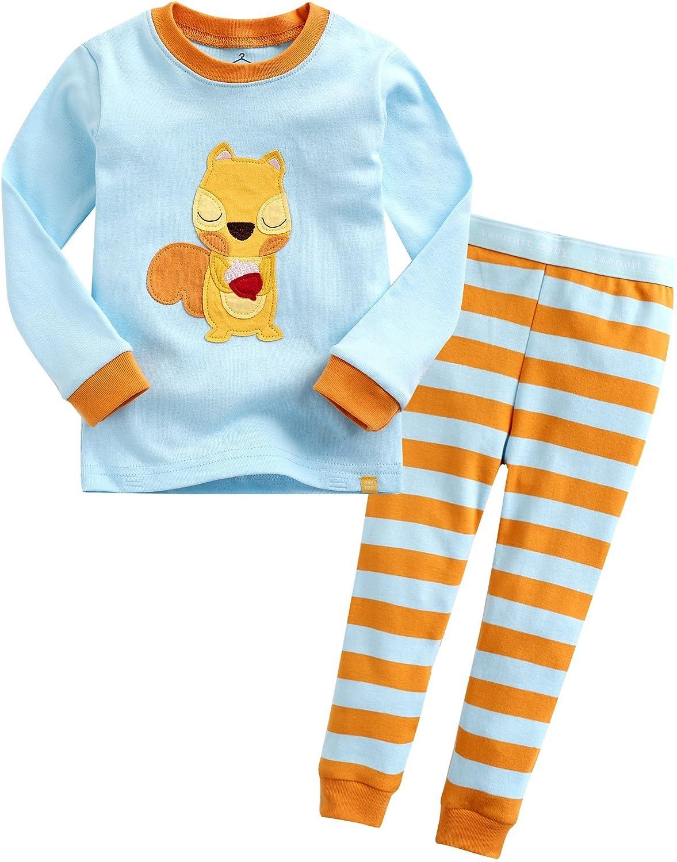 12M-7T Girls 100% Cotton Sleepwear Pajama 2 Pieces Set Mini Doto