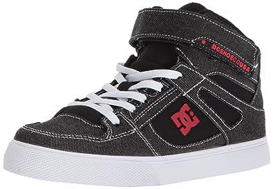 7039f94601ac DC Boys  Pure HIGH-TOP TX SE EV Skate Shoe Black RED