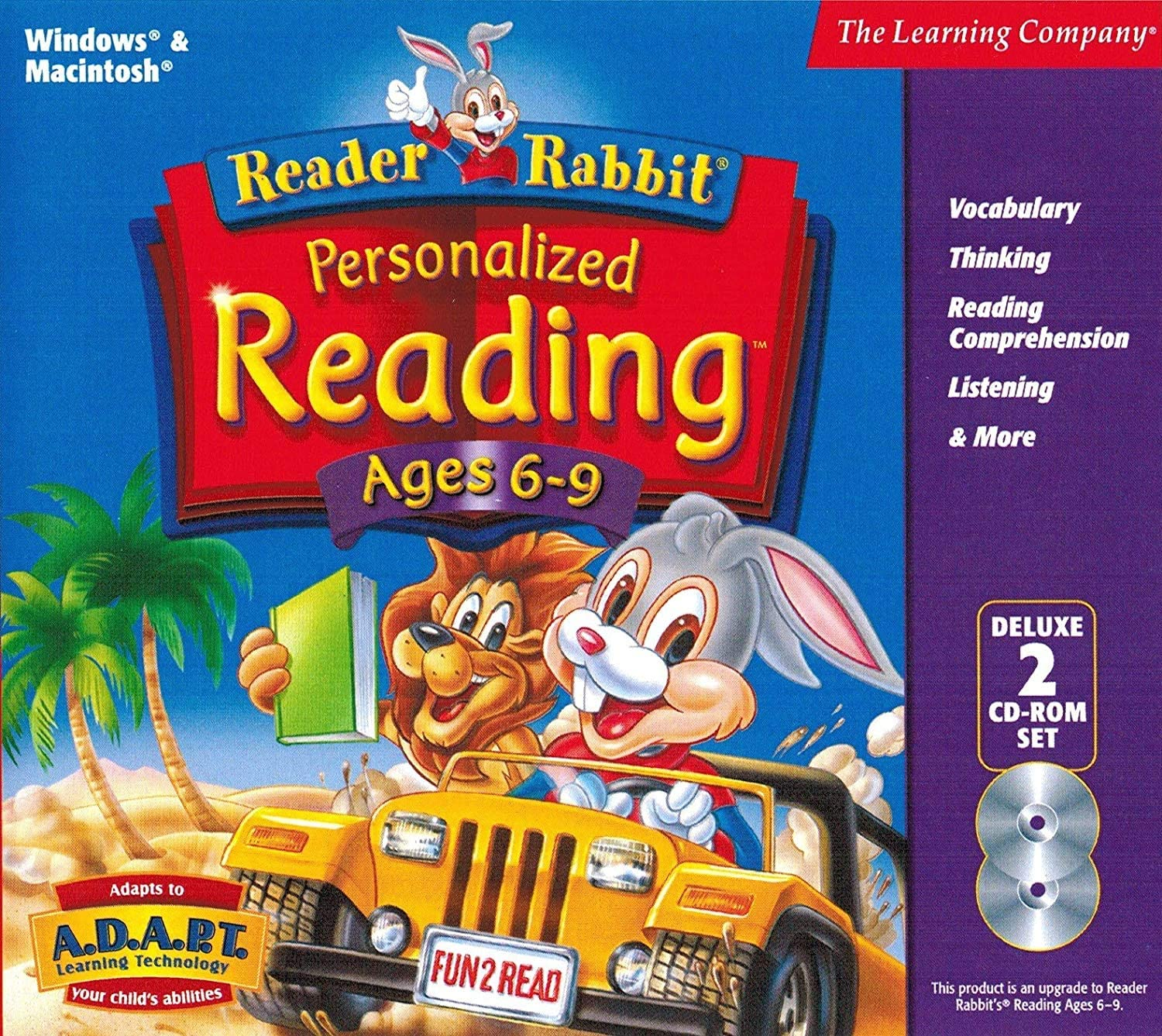 B0002JZP90 Learning Company Reader Rabbit Personalized Reading Ages 6-9 Deluxe 81oj0ohdMkL